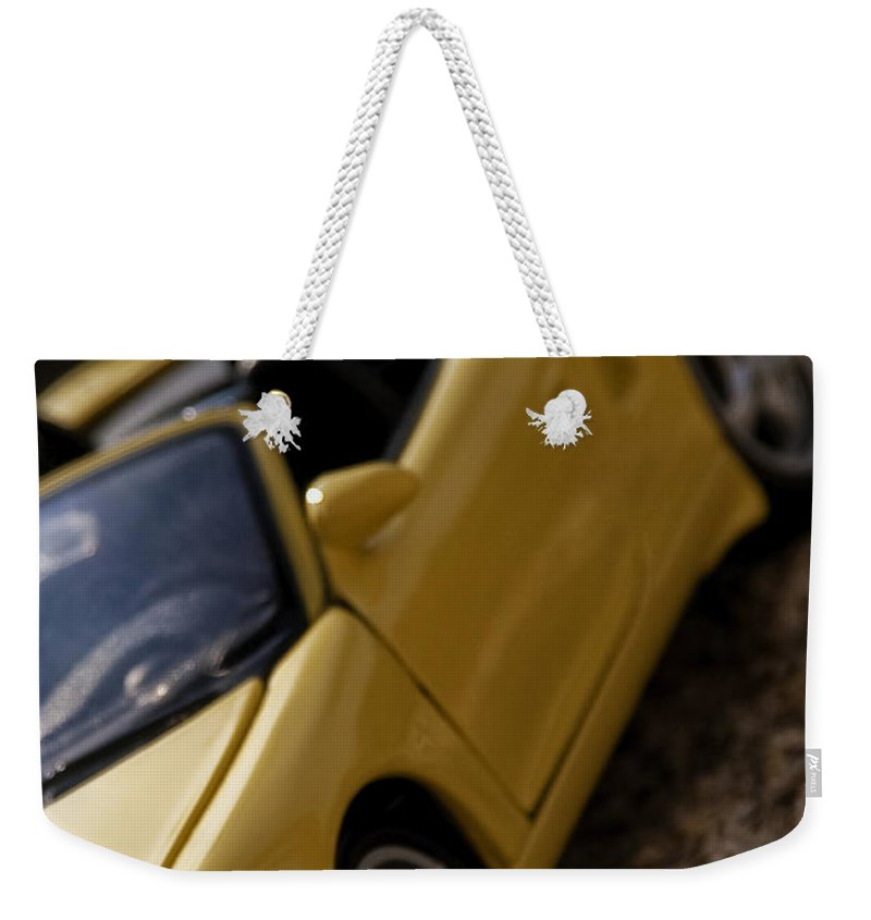 Car Weekender Tote Bag featuring the photograph Porsche Car by Paulo Goncalves