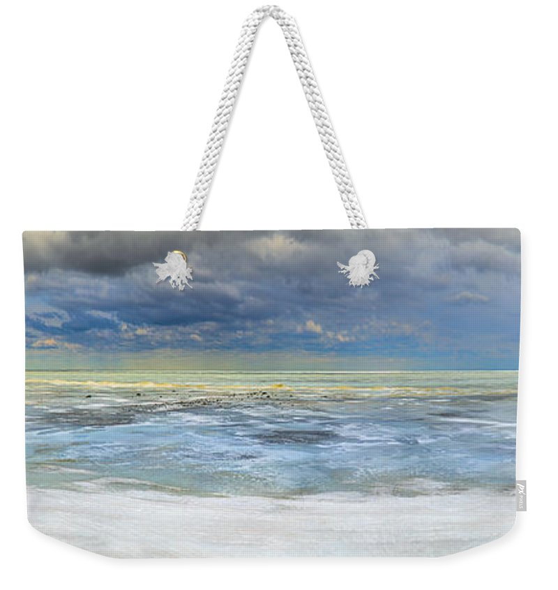 Tip Of The Thumb Weekender Tote Bag featuring the photograph Port Austin 1st Day Of Spring by LeeAnn McLaneGoetz McLaneGoetzStudioLLCcom