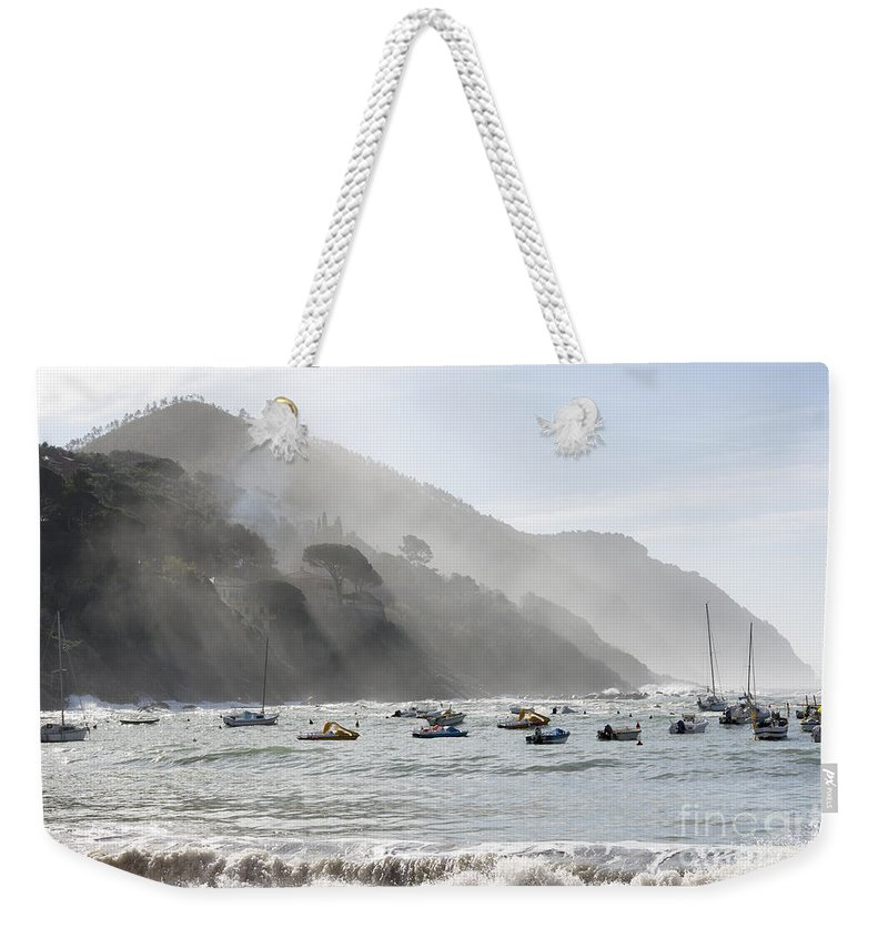 Building Weekender Tote Bag featuring the photograph Port In Sestri Levante by Mats Silvan