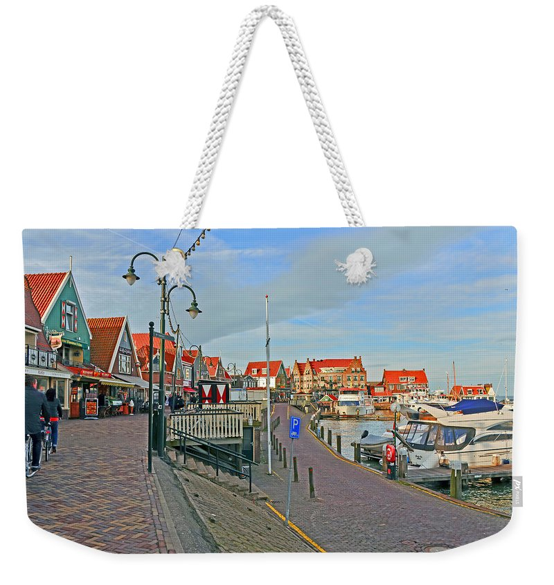 Travel Weekender Tote Bag featuring the photograph Port Of Volendam by Elvis Vaughn