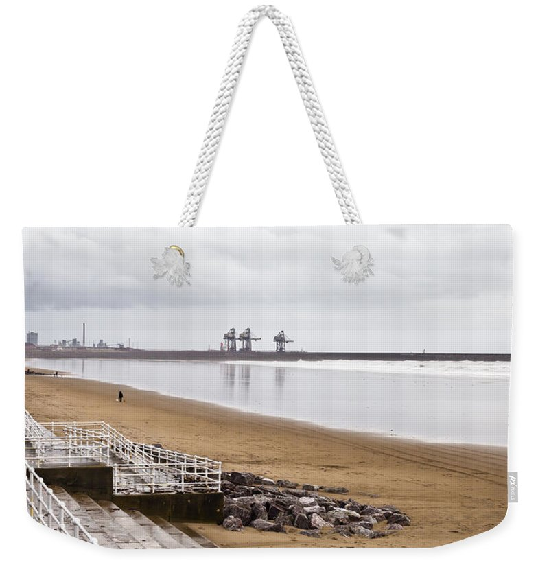 Aberafan Weekender Tote Bag featuring the photograph Port Talbot Steelworks by Tom Gowanlock