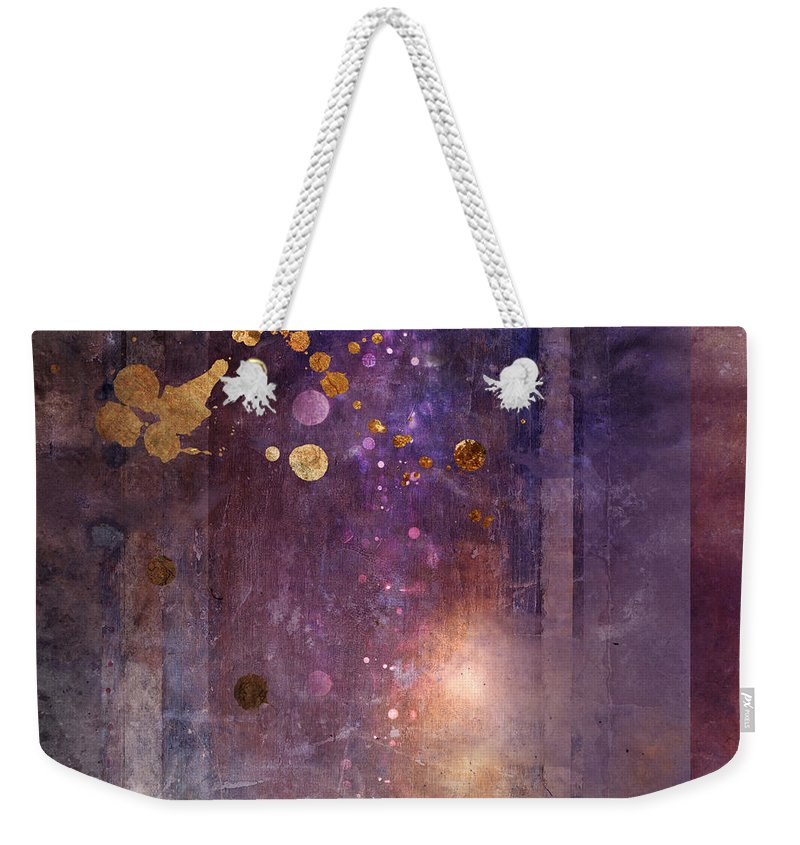 Abstract Weekender Tote Bag featuring the digital art Portal Variant 1 by MGL Meiklejohn Graphics Licensing