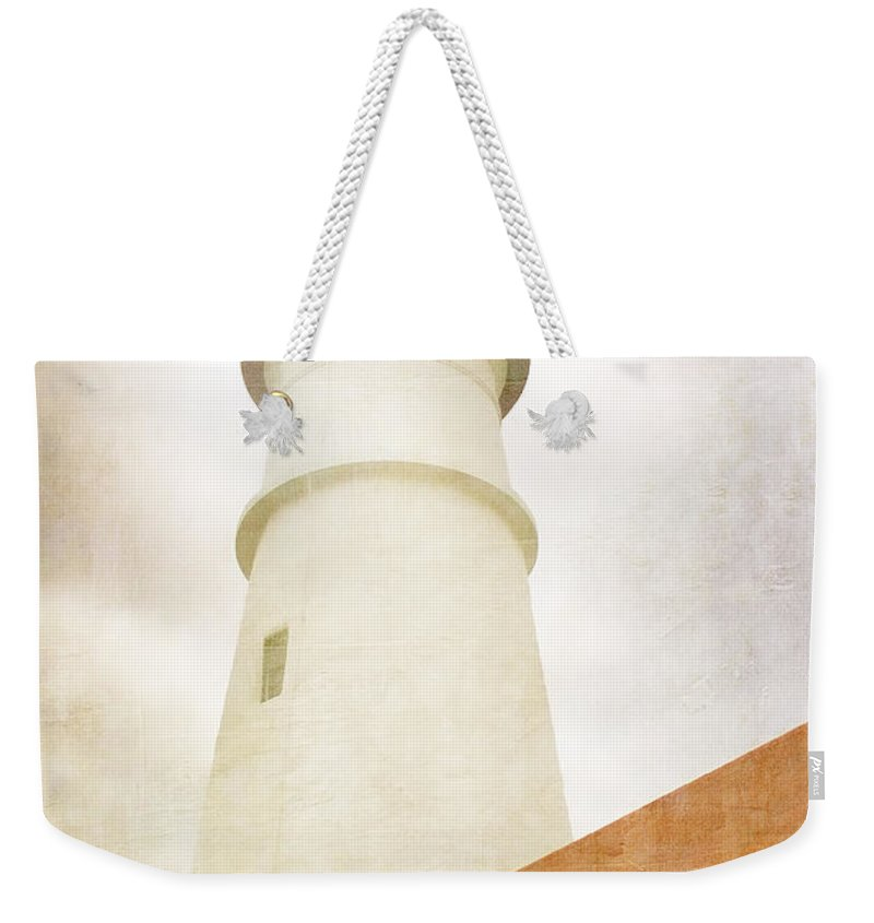 Portland Head Light Weekender Tote Bag featuring the photograph Portland Head Lighthouse Maine by Carol Leigh