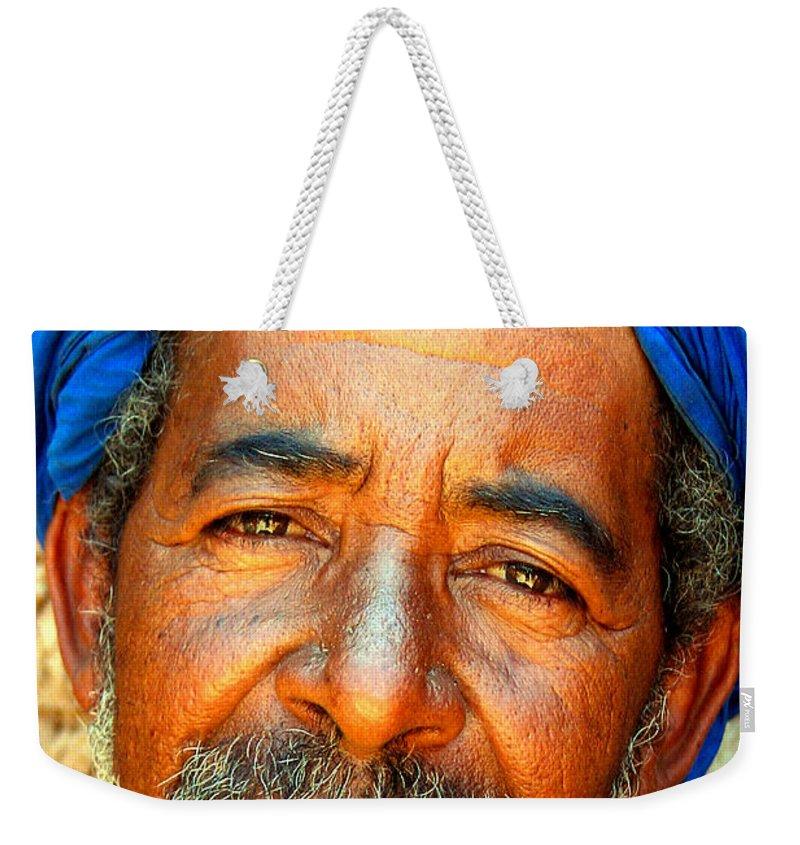 Berber Man Weekender Tote Bag featuring the photograph Portrait Of A Berber Man by Ralph A Ledergerber-Photography