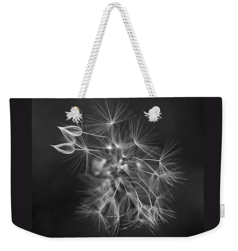 Dandelion Weekender Tote Bag featuring the photograph Portrait Of A Dandelion by Rona Black