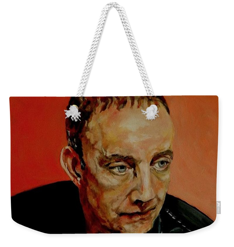 Portrait Weekender Tote Bag featuring the painting Portrait Of A Man by Jolante Hesse
