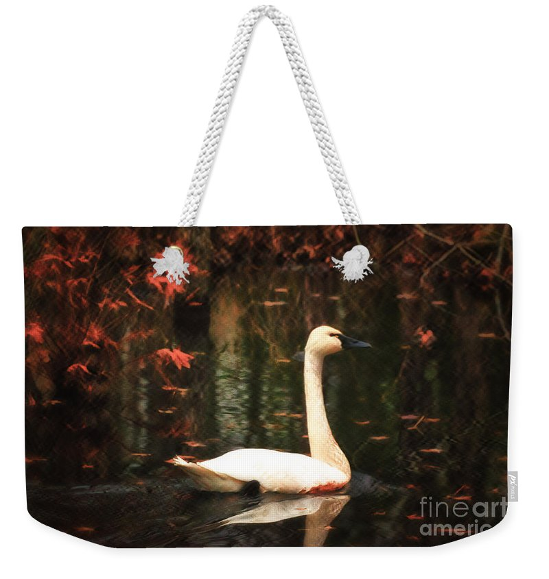 Portrait Weekender Tote Bag featuring the photograph Portrait Of A Swan by Scott Hervieux