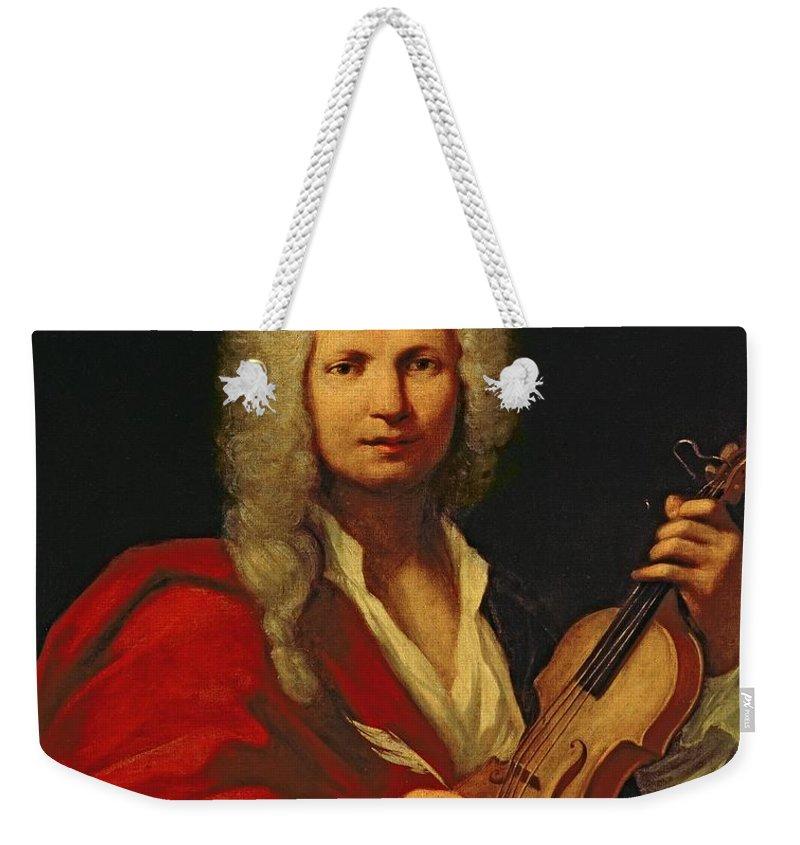 Italian Composer Weekender Tote Bag featuring the painting Portrait Of Antonio Vivaldi by Italian School