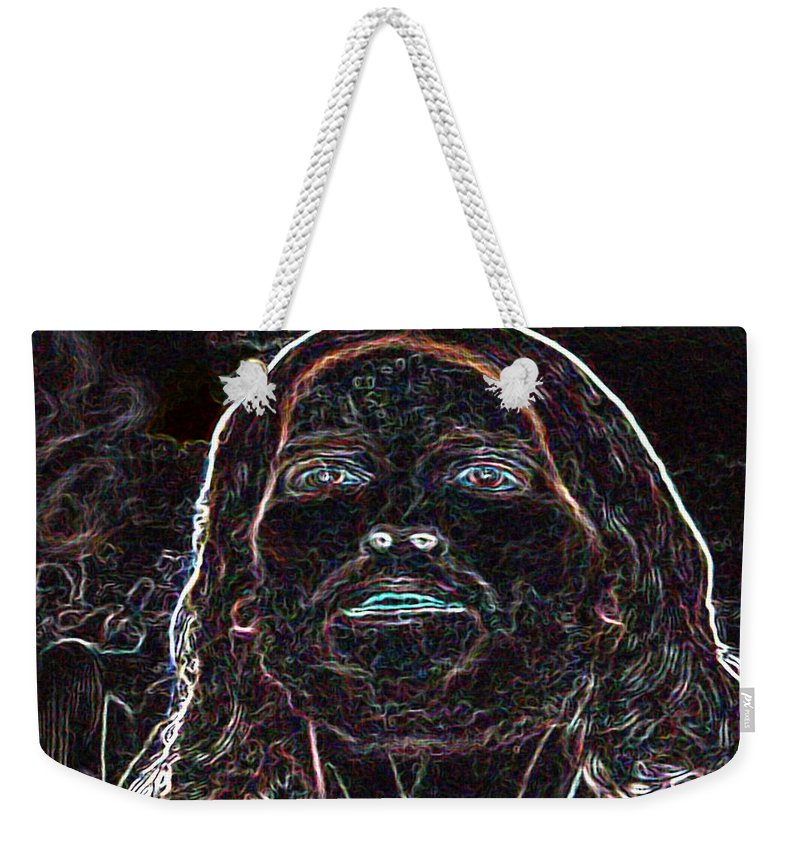 Christ Weekender Tote Bag featuring the photograph Portrait Of Christ by George Pedro