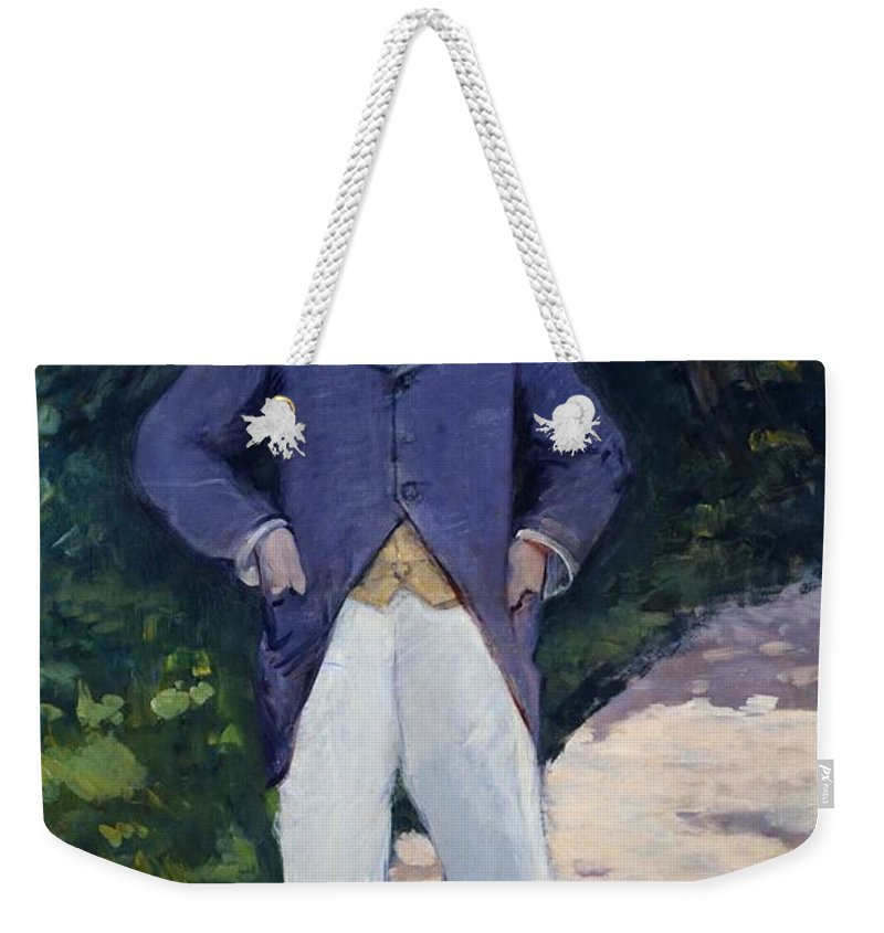 1879 Weekender Tote Bag featuring the painting Portrait Of Monsieur Brun by Edouard Manet