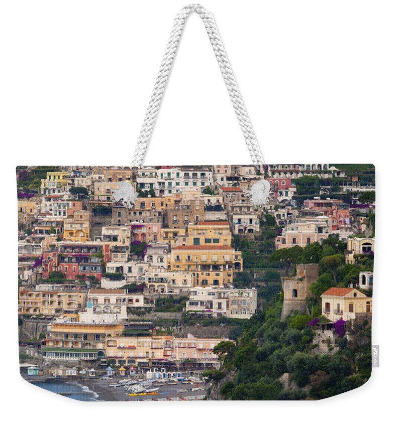 Positano Weekender Tote Bag featuring the photograph Positano by Brian Jannsen