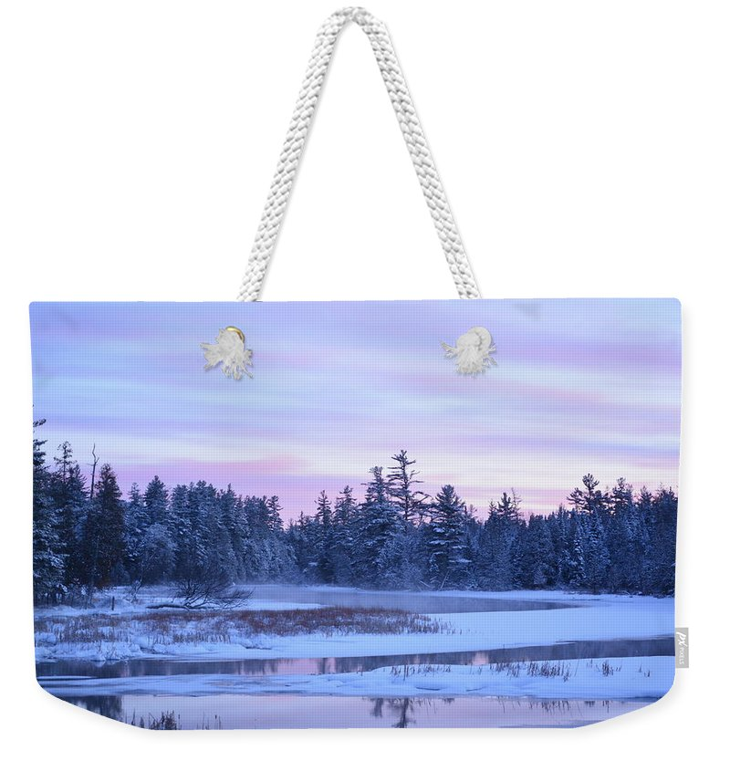 Adirondack Weekender Tote Bag featuring the photograph Postcard by Thomas Phillips