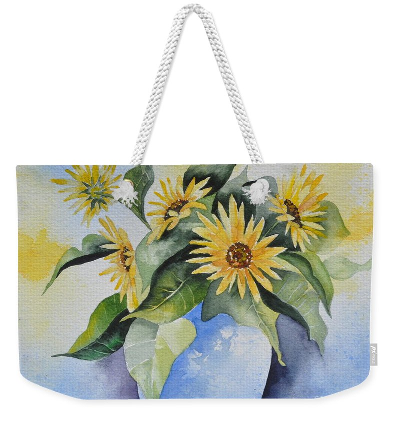 Pot Of Gold Weekender Tote Bag featuring the painting Pot Of Gold by Sally Rice