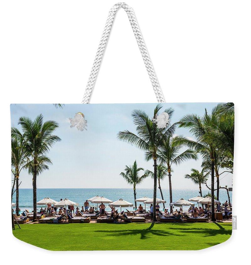 Scenics Weekender Tote Bag featuring the photograph Potatoe Head Beach Bar, Seminyak, Bali by John Harper