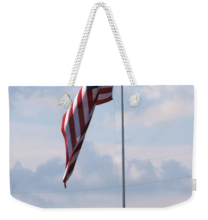 Patriotic Flags Weekender Tote Bag featuring the photograph Power Flag by Joseph Baril