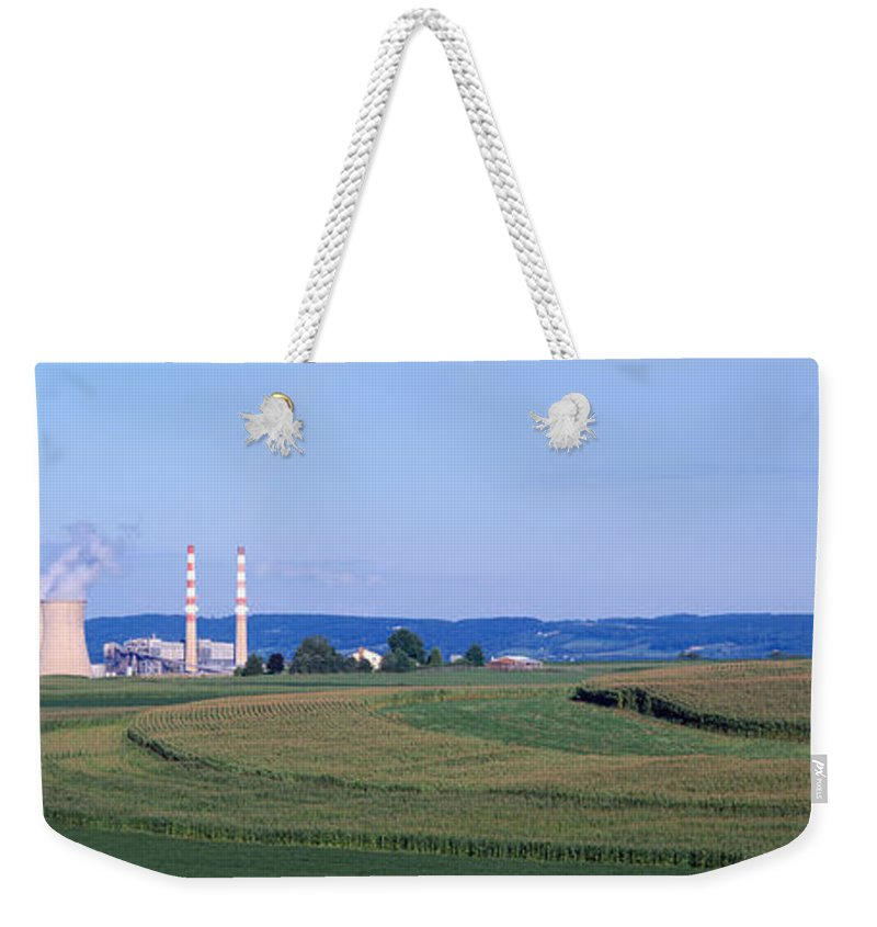 Photography Weekender Tote Bag featuring the photograph Power Plant Energy by Panoramic Images