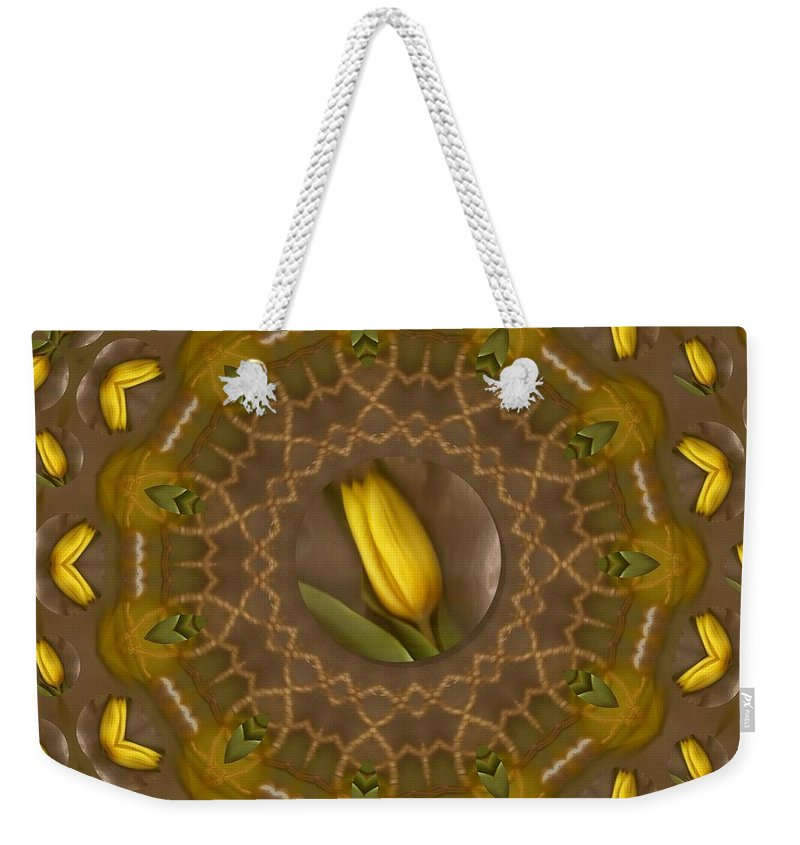 Scenery Weekender Tote Bag featuring the mixed media Power To The Tulips Pop Art by Pepita Selles