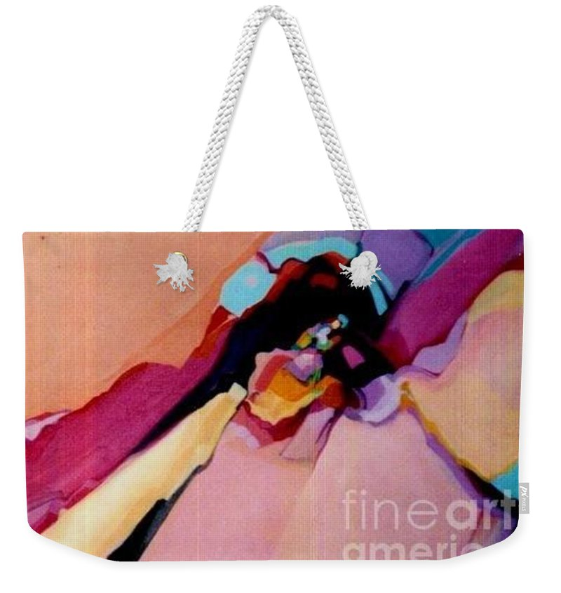 Sedona Weekender Tote Bag featuring the painting Power Within by Marlene Burns