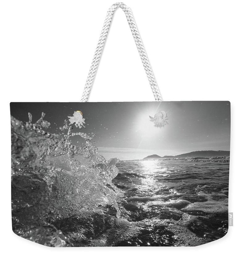 Curve Weekender Tote Bag featuring the photograph Powerful Wave At Dawn by Gustavosilent