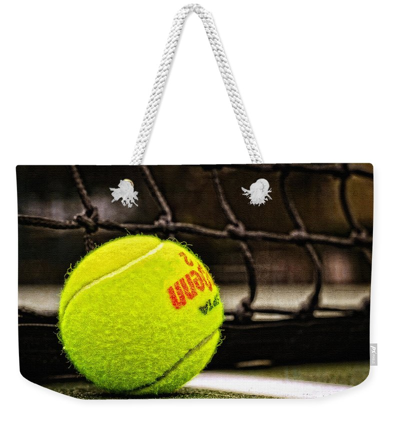 Tennis Weekender Tote Bag featuring the photograph Practice - Tennis Ball By William Patrick And Sharon Cummings by Sharon Cummings