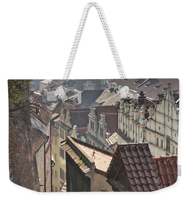 Landmark Weekender Tote Bag featuring the photograph Prague by Jaroslav Frank
