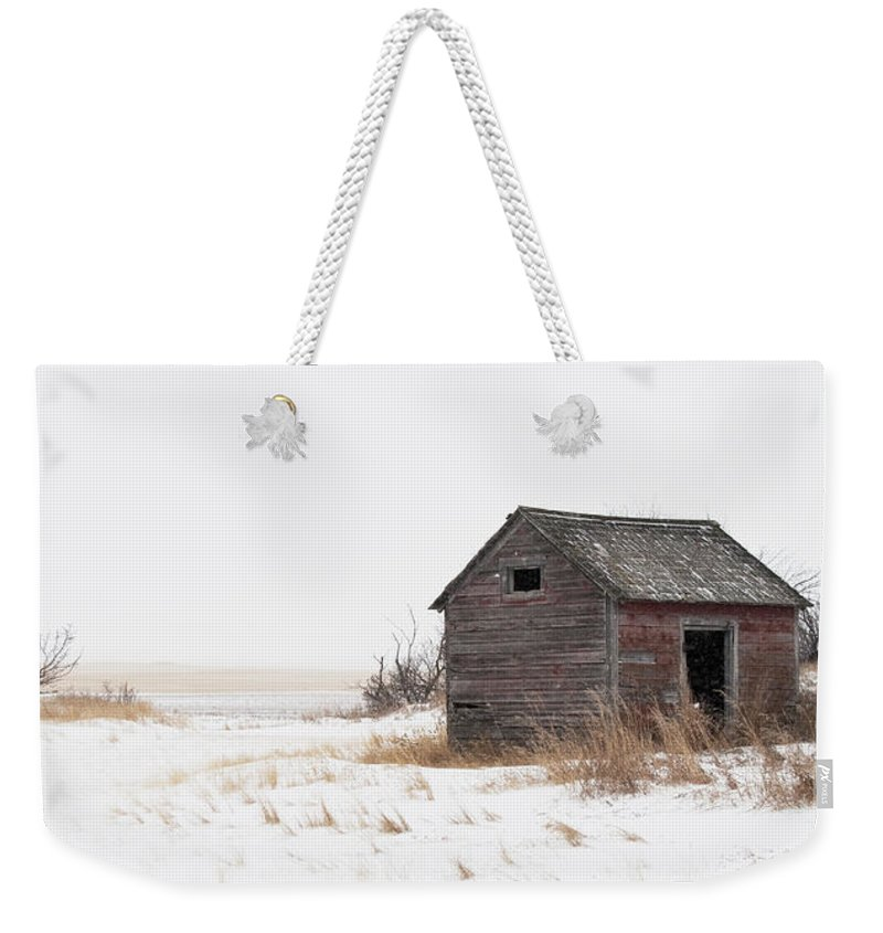 Festblues Weekender Tote Bag featuring the photograph Prairie Silence... by Nina Stavlund