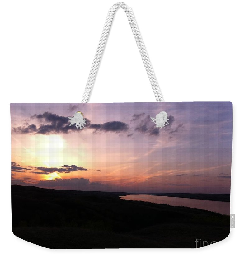 Sunset Weekender Tote Bag featuring the photograph Prairie Sunset by Stephanie Bland