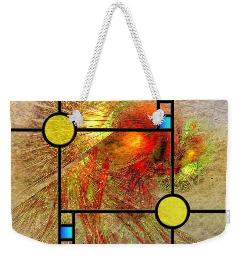 Frank Lloyd Wright Weekender Tote Bag featuring the digital art Prairie View - Square Version by John Robert Beck