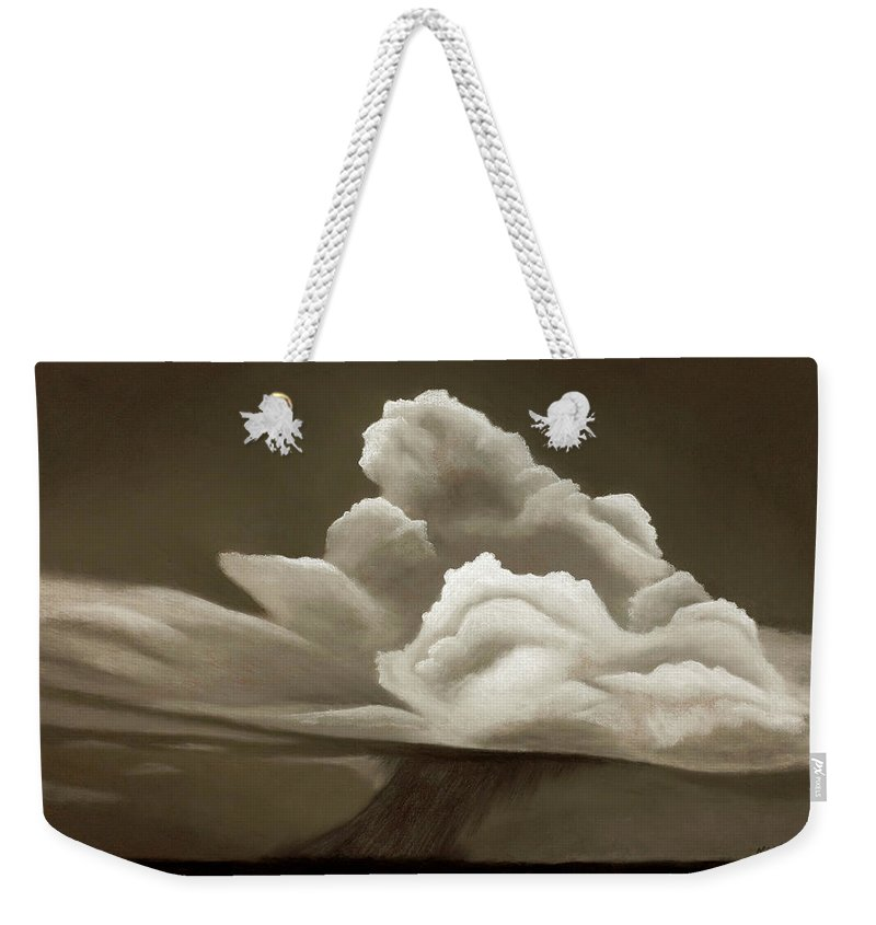Prairie Landscape Weekender Tote Bag featuring the painting Prairy Storm IIi by Garry McMichael