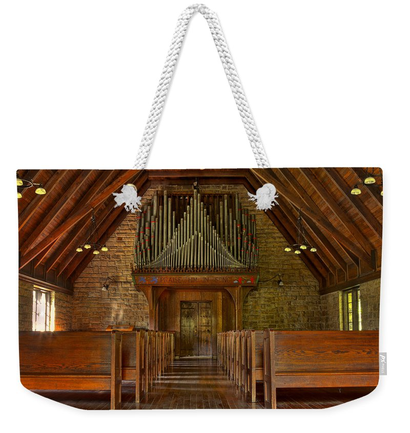 Air Weekender Tote Bag featuring the photograph Praise Him In Song by Jack R Perry