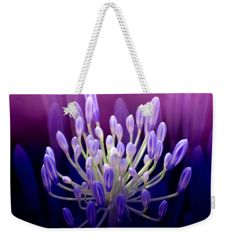 Agapanthus Weekender Tote Bag featuring the photograph Praise by Holly Kempe