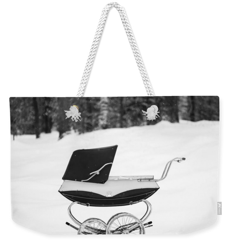 Etna Weekender Tote Bag featuring the photograph Pram In The Snow by Edward Fielding