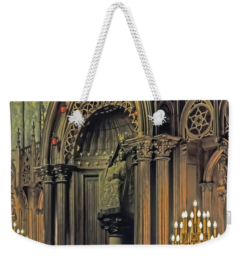 Travel Weekender Tote Bag featuring the photograph Prayer And Contlemplation by Elvis Vaughn