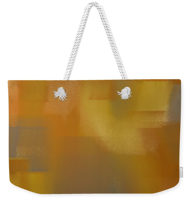 Andee Design Abstract Weekender Tote Bag featuring the digital art Precious Metals Abstract 2 by Andee Design