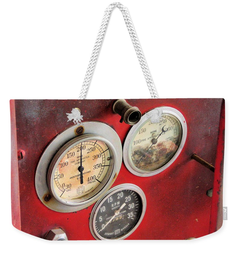 Fire Truck Weekender Tote Bag featuring the photograph Pressure Up by C H Apperson