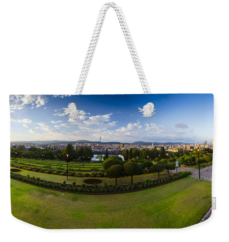 City Weekender Tote Bag featuring the photograph Pretoria Cityscape Southward by Roald Nel