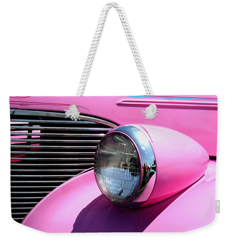 Hot Rod Weekender Tote Bag featuring the photograph Pretty In Pink by Joe Kozlowski