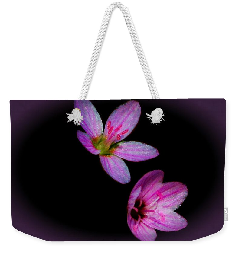 Flower Weekender Tote Bag featuring the photograph Pretty In Pink by John Absher