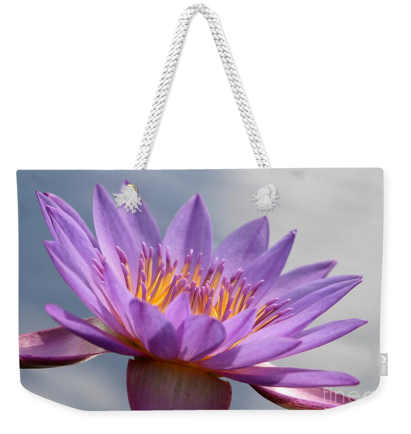 Landscape Weekender Tote Bag featuring the photograph Pretty In Purple by Sabrina L Ryan