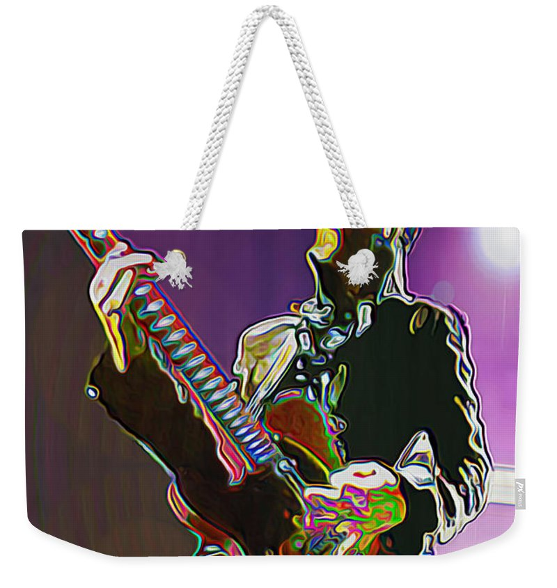 Prince Weekender Tote Bag featuring the painting Prince by Fli Art