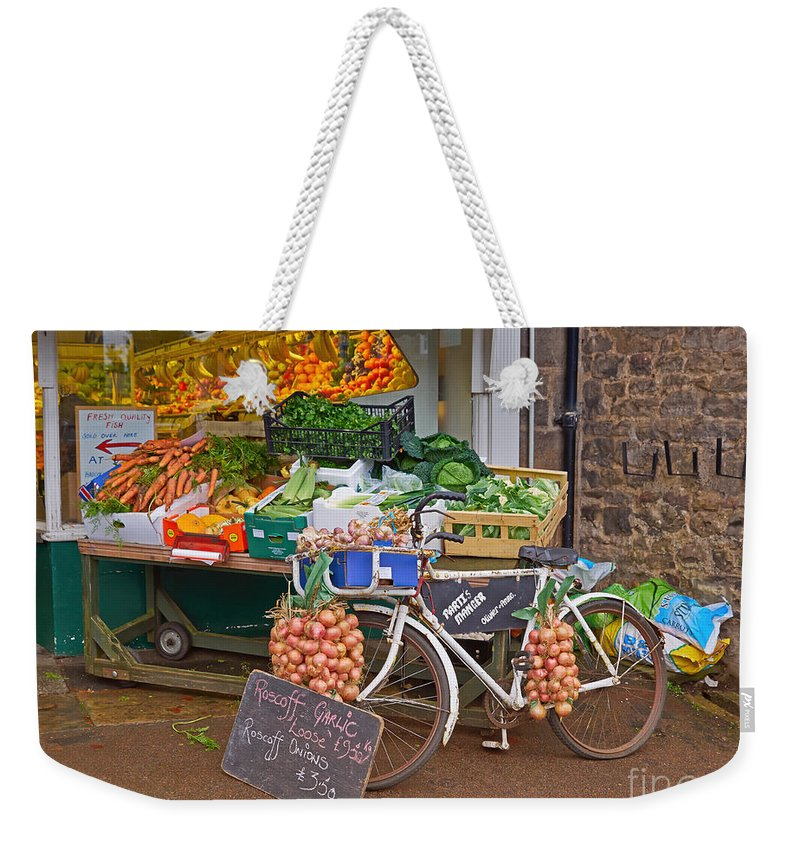 Produce Weekender Tote Bag featuring the photograph Produce Market In Corbridge by Louise Heusinkveld