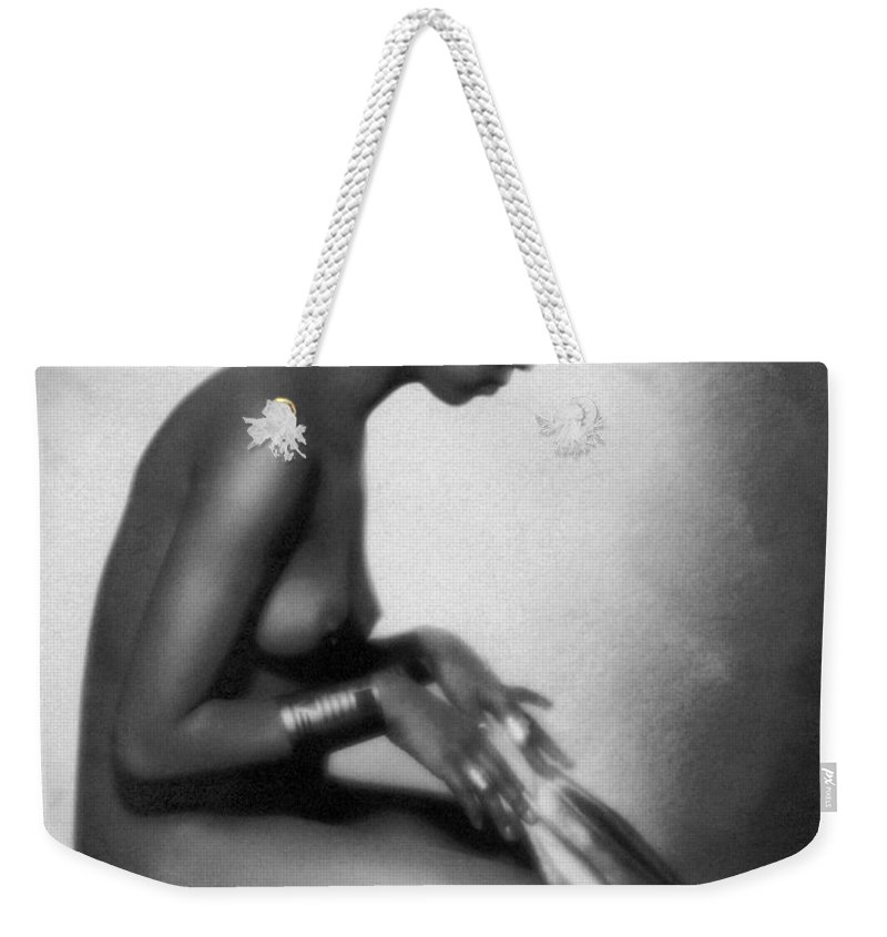 1928 Weekender Tote Bag featuring the photograph Profile Of Josephine Baker by Underwood Archives