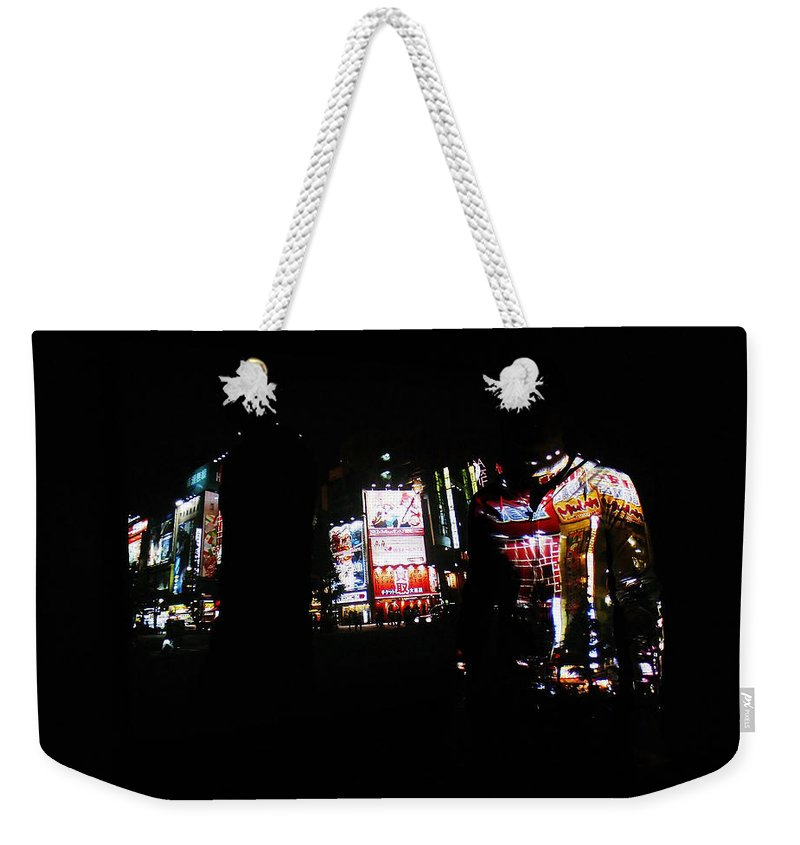 Projection Weekender Tote Bag featuring the photograph Projection - Body 1 by Conor O'Brien