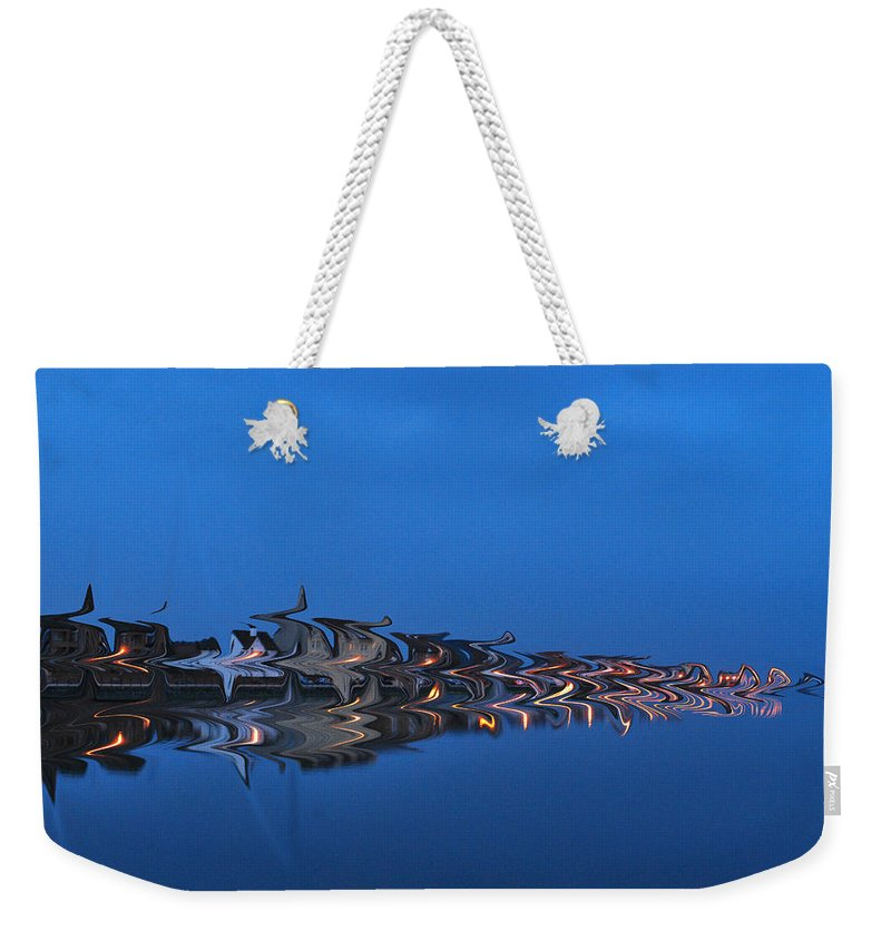 Seascape Weekender Tote Bag featuring the photograph Promenade In Blue by Spikey Mouse Photography