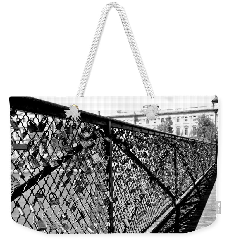 Paris Weekender Tote Bag featuring the photograph Promises Made by Eric Tressler