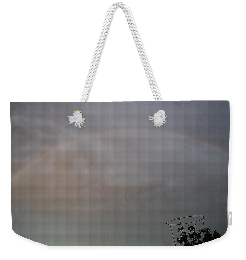 Becky Furgason Weekender Tote Bag featuring the photograph #promisespromises by Becky Furgason