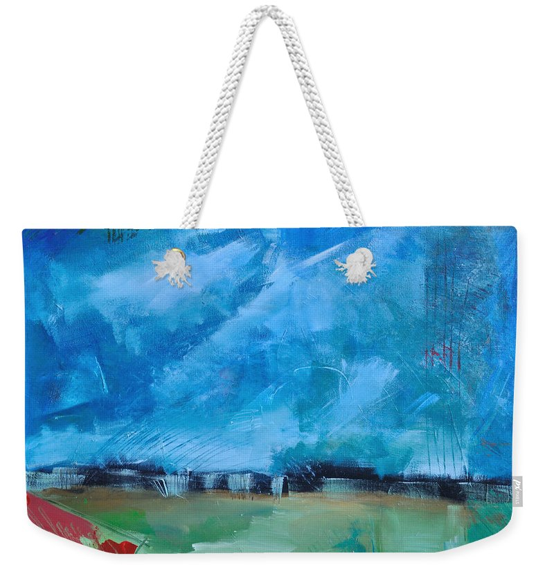 Abstract Weekender Tote Bag featuring the painting Prophesy by Tim Nyberg