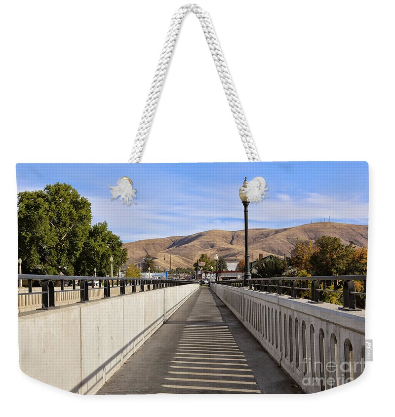Prosser Weekender Tote Bag featuring the photograph Prosser - Going To Town by Carol Groenen