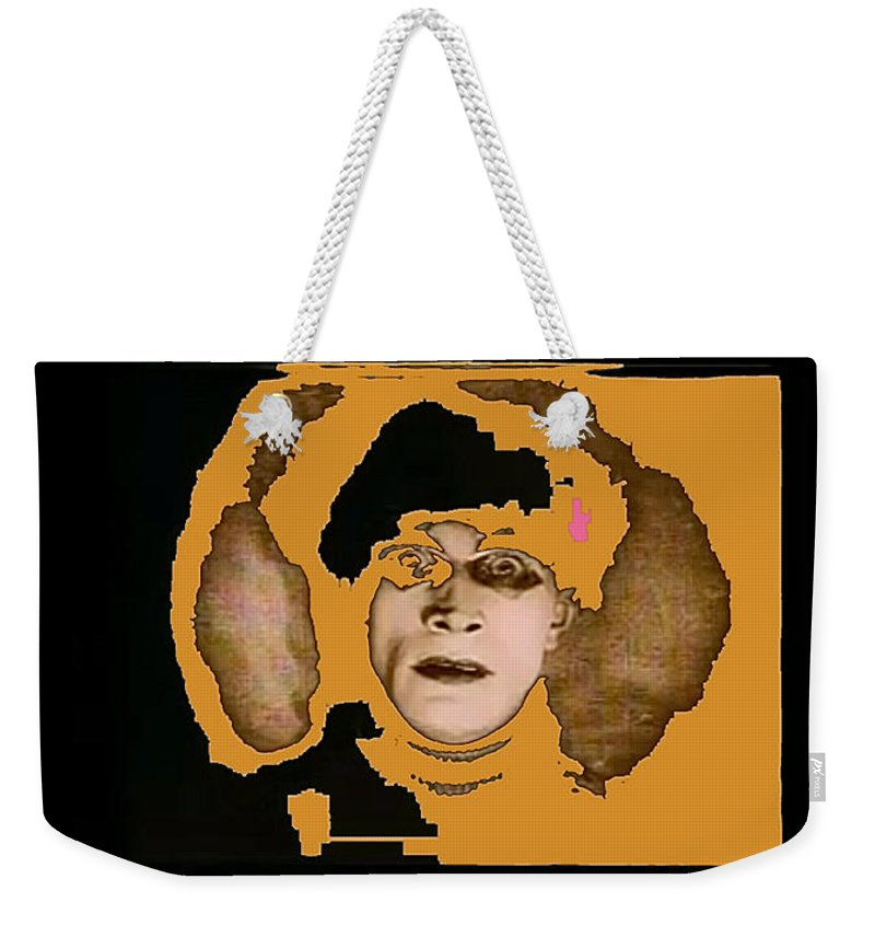 Proto Film Noir Conrad Veidt The Cabinet Of Dr. Caligari 1919 Collage Screen Capture 2012 Weekender Tote Bag featuring the photograph Proto Film Noir Conrad Veidt Cabinet Of Dr. Caligari 1919 Collage Screen Capture 2012 by David Lee Guss