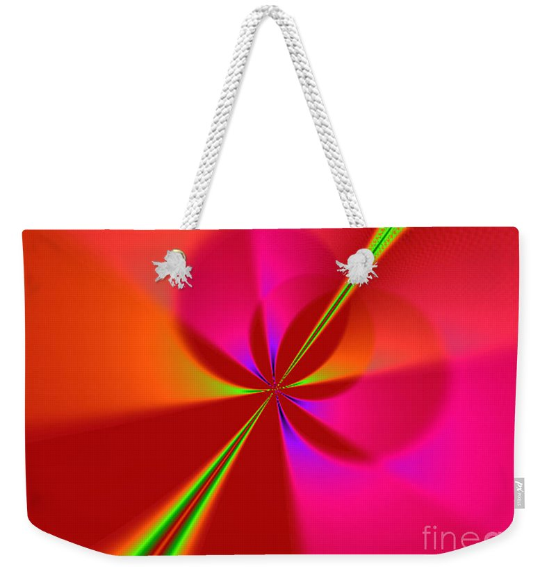 Abstract Weekender Tote Bag featuring the digital art Proud by Dana Haynes